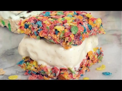 Marshmallow Treat Ice Cream Sandwiches!