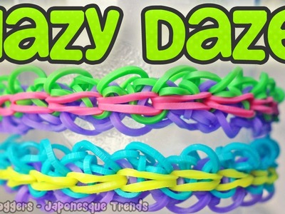 New! Rainbow Loom Hazy Daze Bracelet - How To