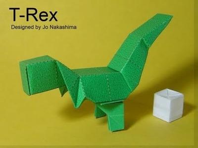 Origami Block T-rex v2 (Jo Nakashima)