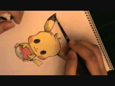 Painting Pikachu with watercolors