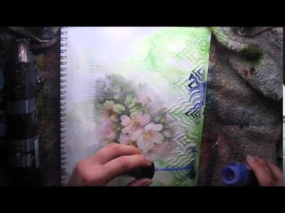 Paper Napkin + Journaling in Colour Tutorial #6 What if. ? for Lindy's Stampg Gang