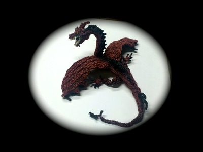 Part 1.14 Rainbow Loom Smaug from The Hobbit, Adult