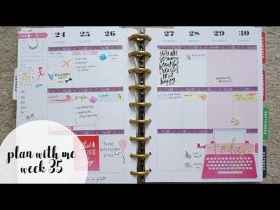 Plan With Me Week 35 - Minimalistic Florals | Charmaine Dulak