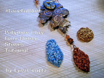 Polymer Clay Faux Druzy Stone tutorial