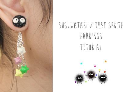 Polymer Clay Tutorial: Susuwatari. Dust Sprite Earrings (Studio Ghibli)