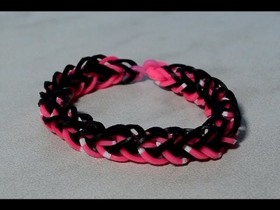 Rainbow Loom French Braid Bracelet Without Loom Use Two Forks DIY