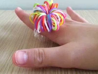 Rainbow loom Pom Pom ~ EASY