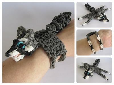 Rainbow Loom raccoon bracelet Loombicious