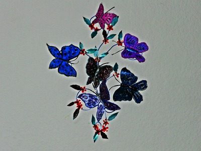 Recycled Plastic: DIY Butterfly Wall Decor!