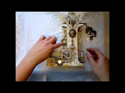 Romantic Steampunk - altered box, mini album, letter and more for Lineca, swap
