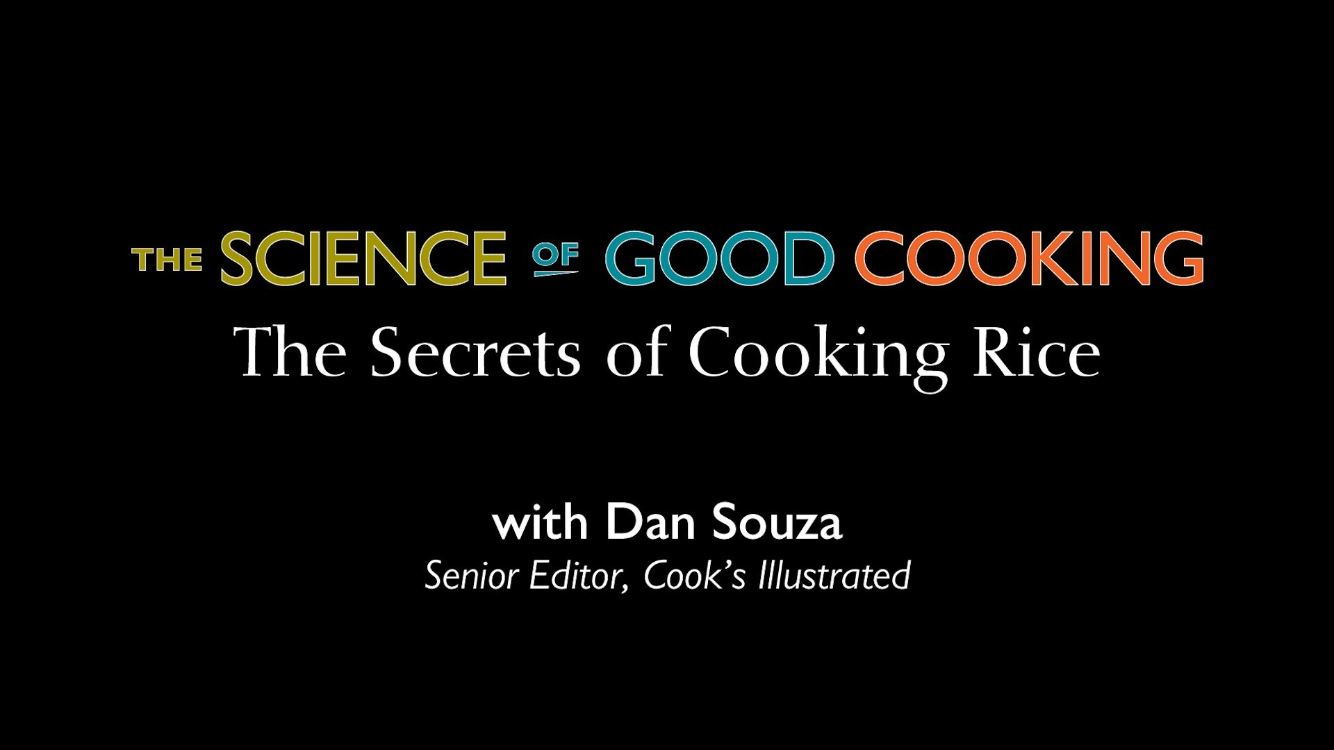 Science: The Secrets of Cooking Rice — The Cause of Recipe Failure is Not What You Might Think