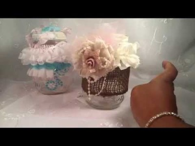 Shabby Chic or Vintage Altered Mason Jars