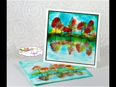 Stampin Up Lovely As A Tree - Mirror Image Technique