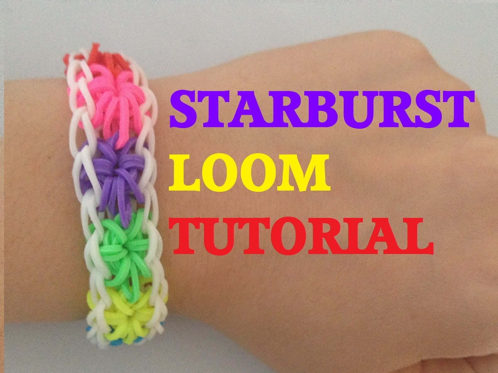STARBURST (Original Method) Rainbow Loom bracelet Tutorial l JasmineStarler