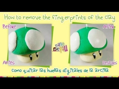 **TIP** How to remove the fingerprints of the clay. Como quitar las huellas digitales de la arcilla