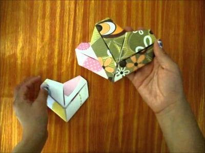 3 formas de hacer una carta en forma corazon FACIL