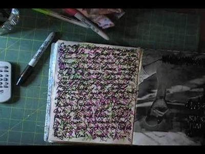 Art Journal Technique: Sharpie Ghost