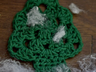 Choinka na szydełku w 7 minut.Tutorial.Christmas crochet in 7 minutes