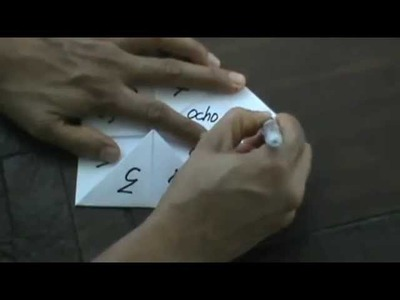 Cómo hacer un comecocos - How make a fortune teller