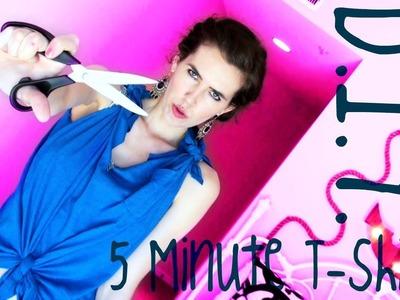 ♥ D.I.Y. ♥ 5 Minute T-shirt!