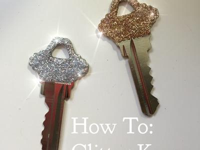 DIY glitter keys