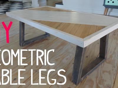 DIY Modern Geometric Table Legs