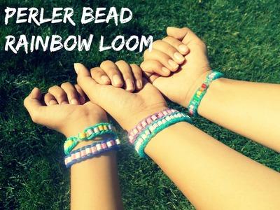 DIY: Perler bead rainbow loom bracelet