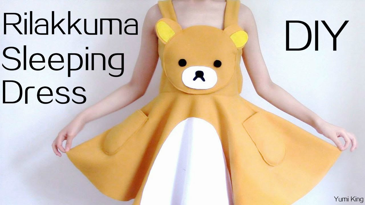 DIY Rilakkuma Dress.Sleeping Dress