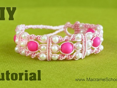 DIY: Triple Spiral Knot Bracelet with Beads ★ Easy Tutorial