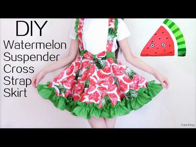 DIY Watermelon Cross Strap Suspender Dress | Summer Picnic DIY