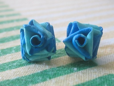 Double colour quilling paper rose studs. .
