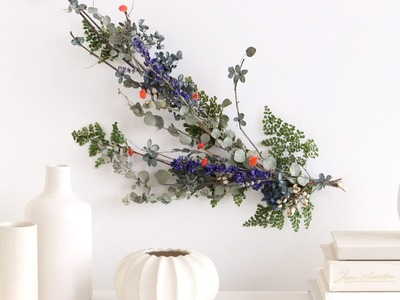 Dried Fall Wall Decor