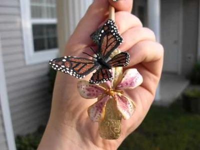 Fantasy Acrylic Nails  Butterfly & Dragon