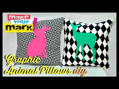 How to: Animal Silhouette Pillows
