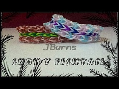 How to Loom: Snowy Fishtail bracelet (Monster Tail tutorial)
