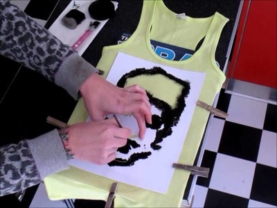 HOW TO make a 1D Zayn Malik tank fashion top with a stencil tutorial