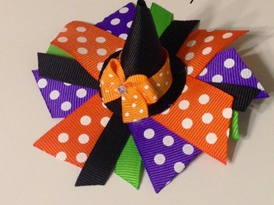 "HOW TO: Make a ""Witch Hat"" Bow"