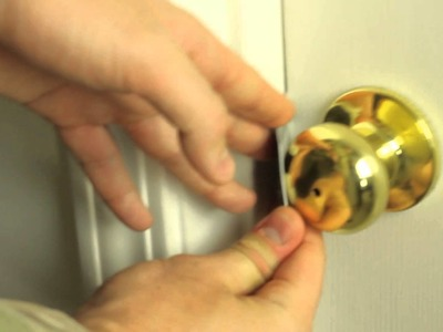How to unlock a door with a credit card!?