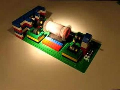 Lego Solar Powered Levitated Motor