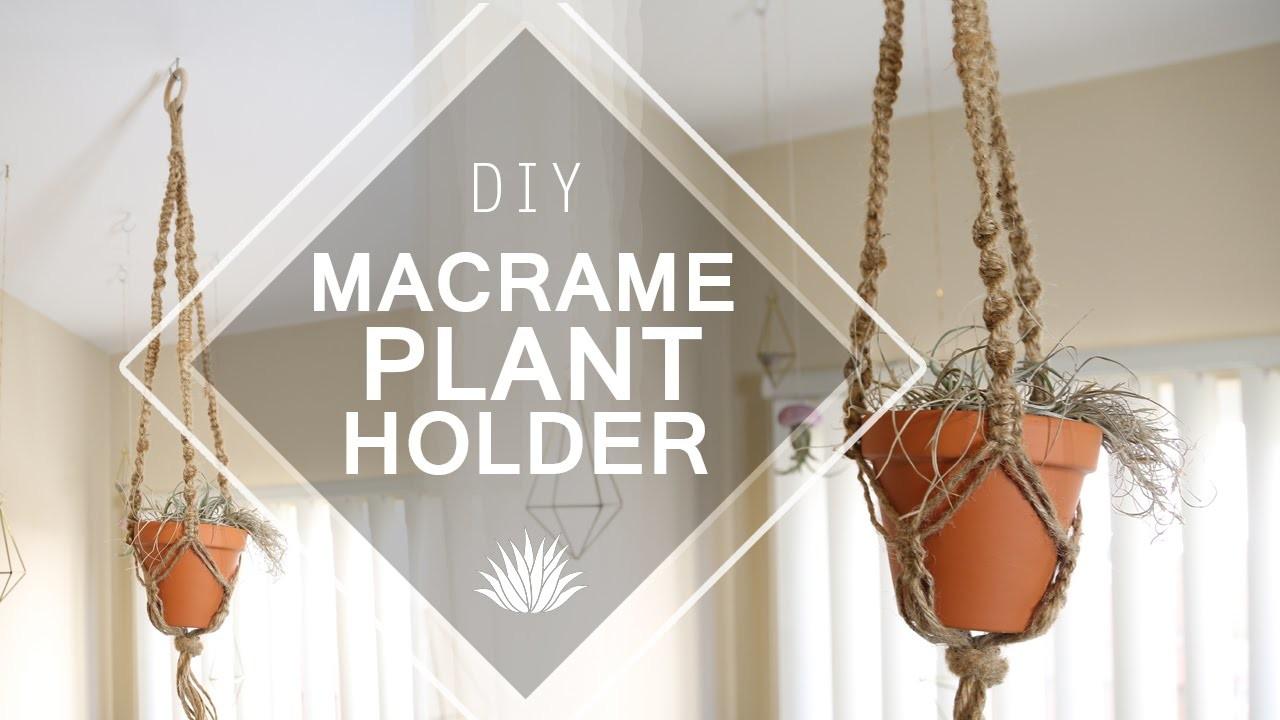 Macrame Plant Holder ♥ DIY