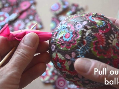 Make your own papier mache easter eggs
