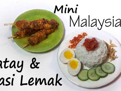 Malaysian Miniature Satay & Nasi Lemak - Polymer Clay Tutorial
