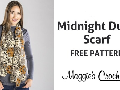 Midnight Dune Scarf Free Crochet Pattern - Right Handed