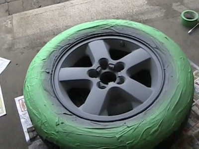 MURDERING out the JEEP, Phase 1, Painting my wheels black