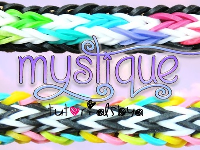 NEW Mystique MONSTER TAIL Rainbow Loom Bracelet Tutorial | How To