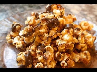 Peanut Butter Chocolate Popcorn recipe