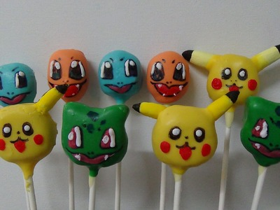 Pokemon characters cake pops