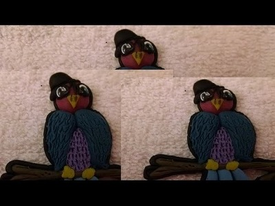 Video Hop   Custom polymer clay bird