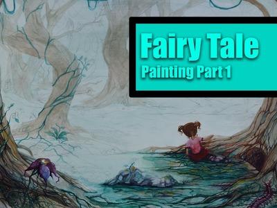 Watercolor Fantasy Painting