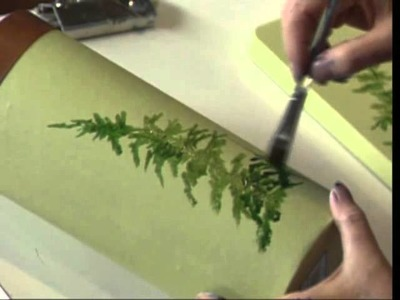 Woodlands Ferns using Acrylic Colors by Susan Scheewe video by ArtistSupplySource.com